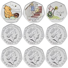 The Winnie the Pooh and Friends 2020 UK Brilliant Uncirculated Colour Nine-Coin Series