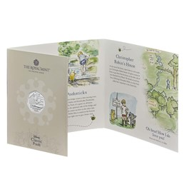 christopher robin 2020 uk 50p brilliant uncirculated coin packaging front angled  uk20crbu