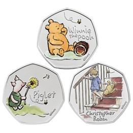 The Winnie the Pooh and Friends 2020 UK Brilliant Uncirculated Colour Three-Coin Series