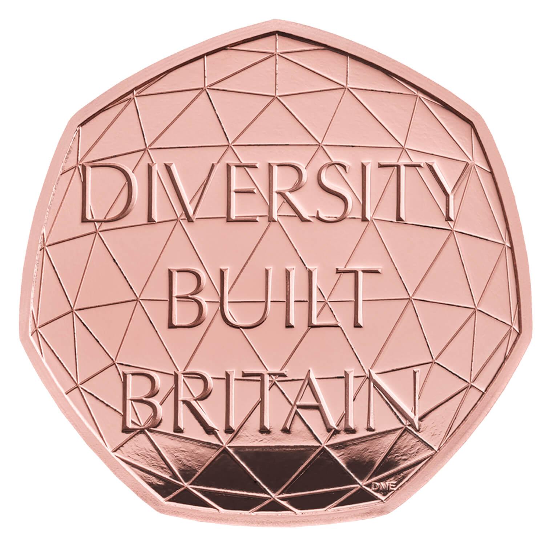 Celebrating British Diversity 2020 UK 50p Gold Proof Piedfort Coin