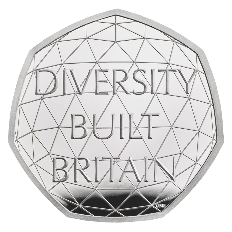 Celebrating British Diversity 2020 UK 50p Silver Proof Piedfort Coin