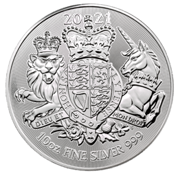 The Royal Arms 2021 10oz Silver Bullion Coin