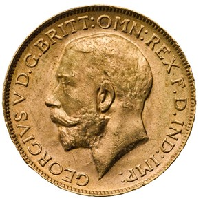 1917 George V Sovereign, Canada Mint Mark