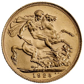 1925 George V Sovereign Sydney Mint Mark