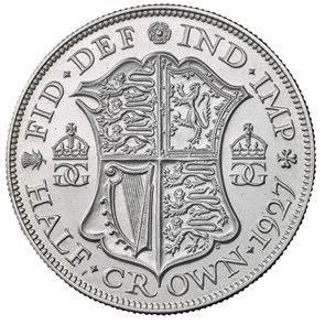1927 George V Half-crown Fourth Coinage
