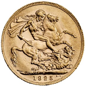 George V Sovereign 1925 Perth Mint Mark