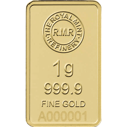 1g Gold Bar Minted