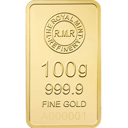 100g Gold Bar Minted