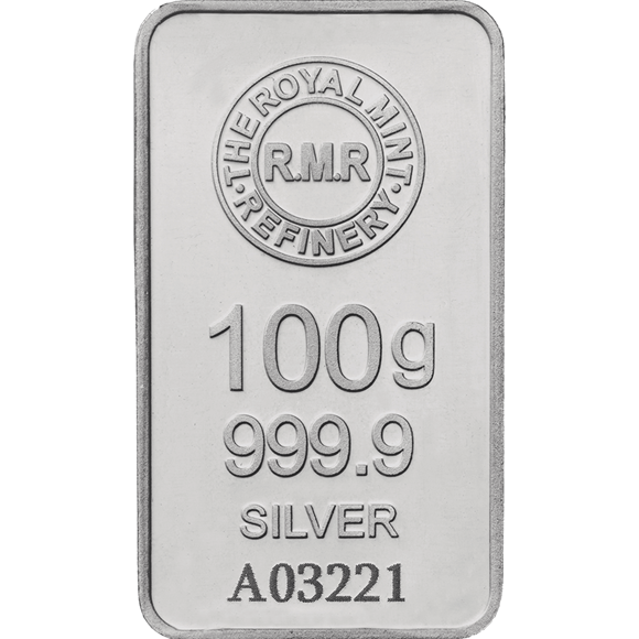100g Silver Bar Minted