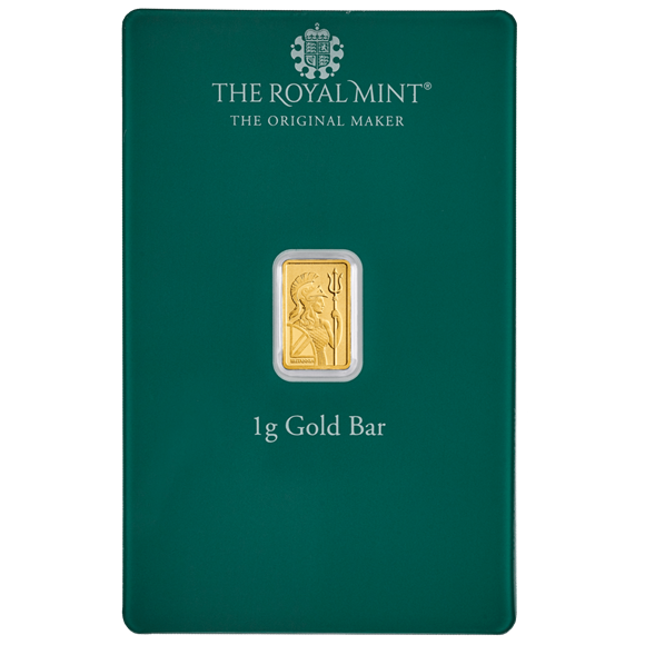 Christmas 1g Gold Bar Minted