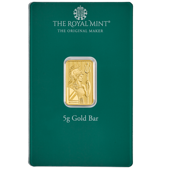 Christmas 5g Gold Bar Minted