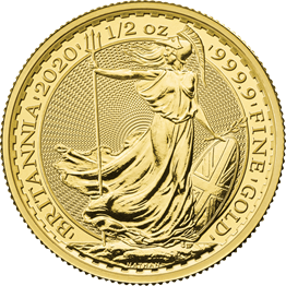 Britannia 2020 1/2 oz Gold Bullion Coin