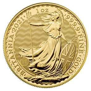 Britannia 2021 1 oz Gold Bullion Coin