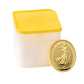 Britannia 2021 1 oz Gold Bullion Ten Coin Tube