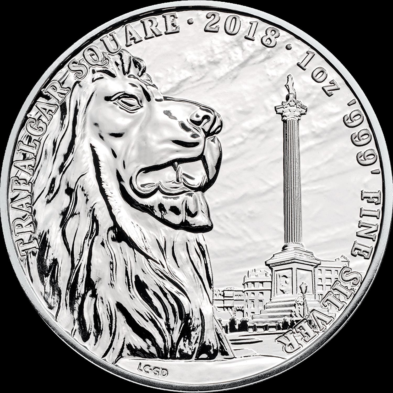 2018 Great Britain 1 oz Silver British Landmarks Trafalgar Mint Direct Premier