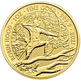 Robin Hood 2021 1oz Gold Bullion Coin