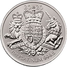 The Royal Arms 2020 1oz Platinum Bullion Coin