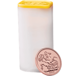 The Sovereign 2019 Gold Bullion Twenty Five Coin Tube