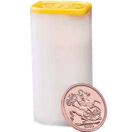 The Sovereign 2020 Twenty Five Bullion Coin Tube