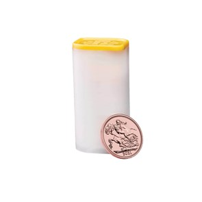 The Sovereign 2021 Twenty Five Bullion Coin Tube