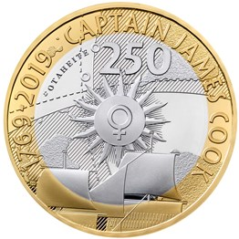 Captain Cook 2019 £2 Silver Proof Coin