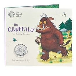 the gruffalo 2019 uk 50p brilliant uncirculated coin pack front