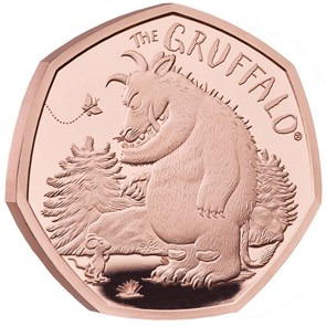 The Gruffalo and Mouse 2019 UK 50p Gold Proof Coin