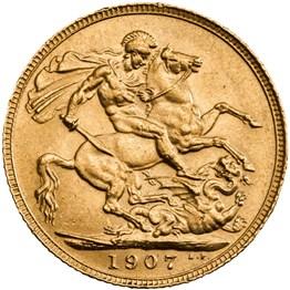 his1907s 1907 sovereign reverse grade ef