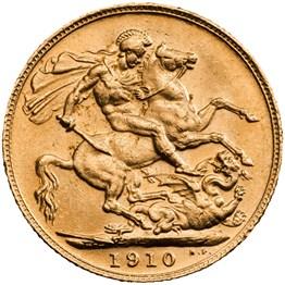 hise7b10 1910 sovereign reverse grade ef