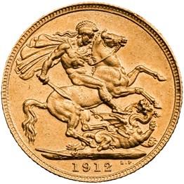 hisgs12 1912 sovereign reverse grade ef