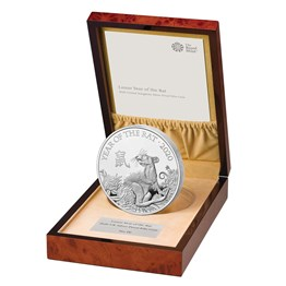 Lunar Year of the Rat 2020 United Kingdom Silver Proof Kilo Coin