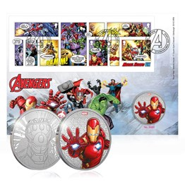 MARVEL™ Iron Man Limited Edition Brilliant Medal Cover