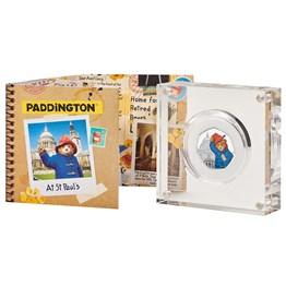 paddington at st pauls 2019 united kingdom silver proof coin reverse in acrylic packaging   uk19ppsp
