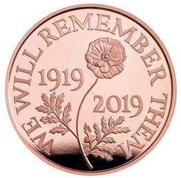 The Remembrance Day 2019 UK £5 Gold Proof Coin
