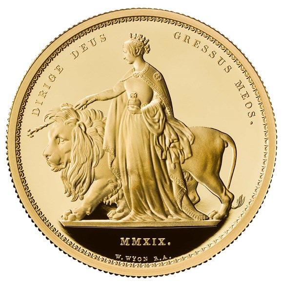 Una and the Lion 2019 UK Two-Ounce Gold Proof Coin