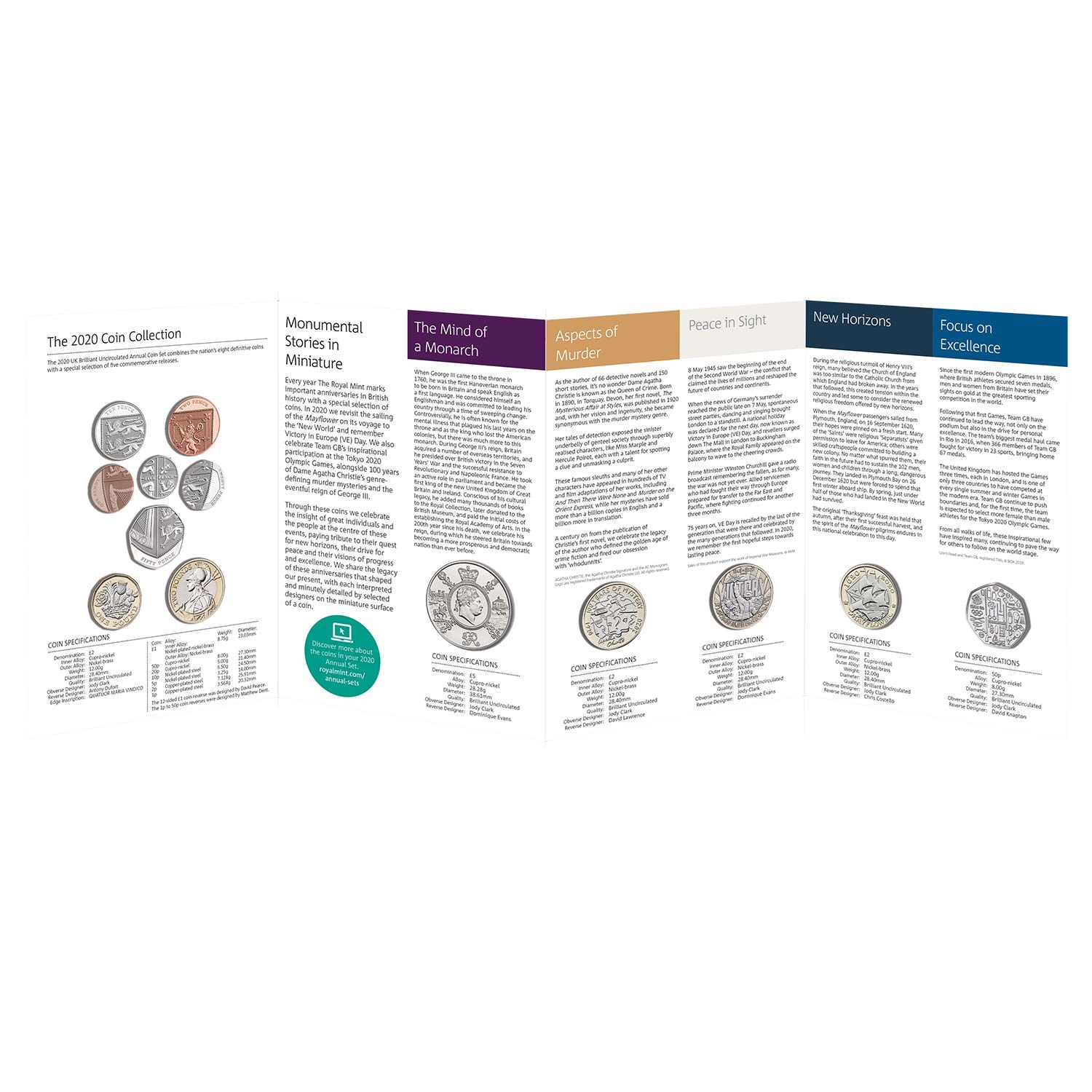 2020 United Kingdom Brilliant Uncirculated Annual Coin Set