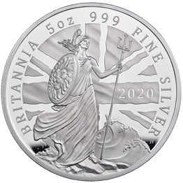 2020 Britannia Five-Ounce Silver Proof Coin