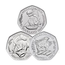 Dinosauria Collection 2020 50p BU - 3 Coin Series