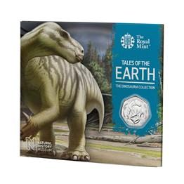 Brilliant Uncirculated Iguanodon 2020 UK 50p coin