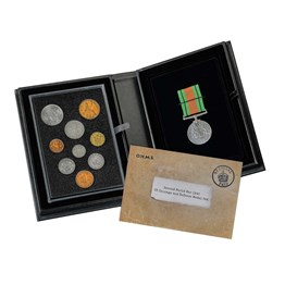 Second World War 1945 UK Coinage and Defence Medal Set