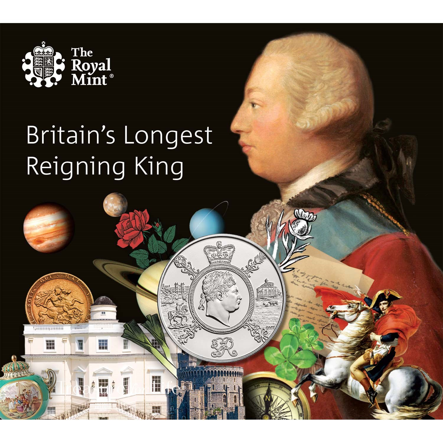 Reign of George III 2020 UK £5 BU Coin