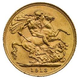 his13g5 1913 george v sovereign rev
