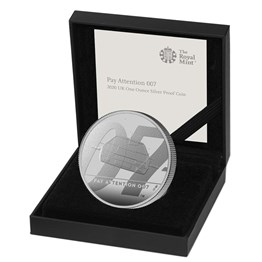 Pay Attention 007 2020 UK One Ounce Silver Proof Coin