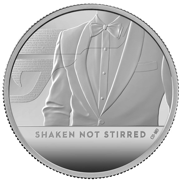 Shaken Not Stirred 2020 UK Two-Ounce Silver Proof Coin