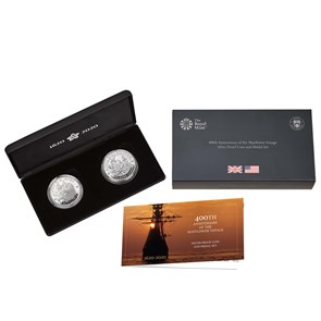 400th Anniversary of the Mayflower Voyage Silver Proof Coin and Medal Set