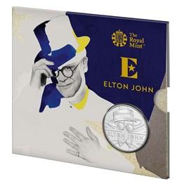 Elton John 2020 UK £5 Brilliant Uncirculated Coin - Illustration
