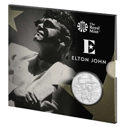 Elton John 2020 UK £5 Brilliant Uncirculated Coin - The Very Best Of