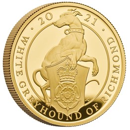The White Greyhound of Richmond 2021 UK One Ounce Gold Proof Coin