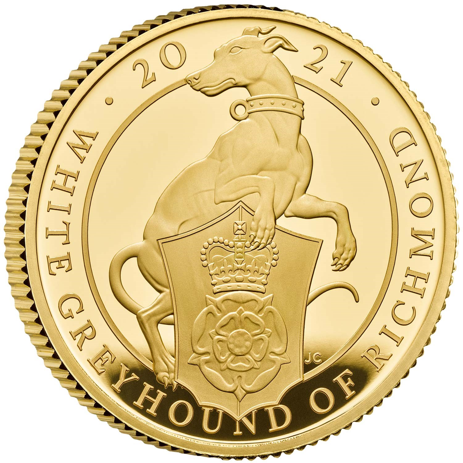 The White Greyhound of Richmond 2021 UK Quarter-Ounce Gold Proof Coin