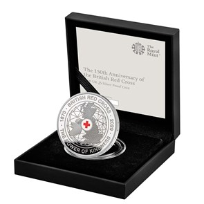 The 150th Anniversary of the British Red Cross 2020 UK £5 Silver Proof Coin